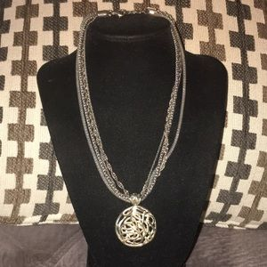 Jewelry - Vintage 925 heavy/ Thailand silver necklace